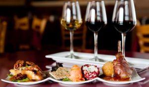 dégustation mets et vins au restaurant